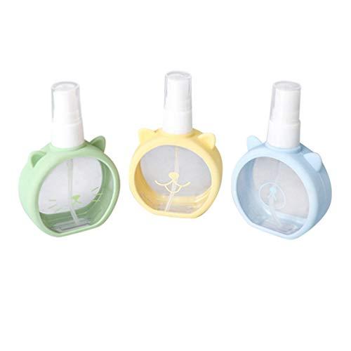 Beaupretty 3Pcs Mini Vaporisateur Pompe Flacon Pulvérisateur Rechargeable pour Parfum Aromathérapie Maquillage Huile Essentielle (Couleur Aléatoire)