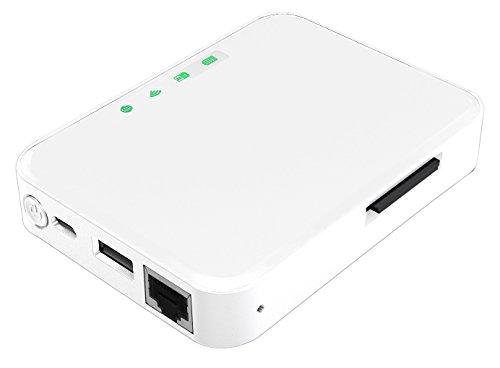 Storex - Hard Disk esterno WeZee'Card, con Wi-Fi, bianca