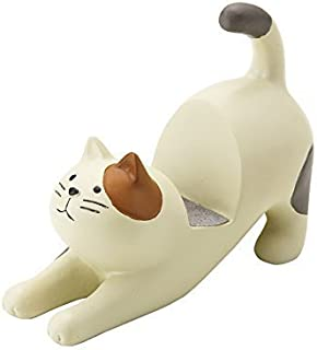 Decole Cat Smart Phone Stand (Cream Cat with Brown)