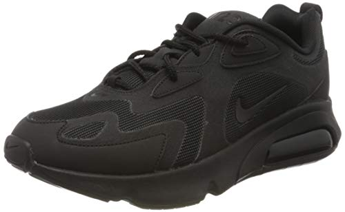 Nike Mens AIR MAX 200 Sneakers, Black, 45 EU