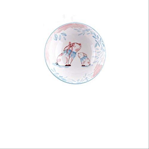 GJDBBLY Bowl Creatieve cartoon lief keramiek porselein eenvoudige dierenschaal