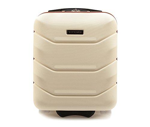WITTCHEN Koffer – Handgepäck | hartschalen, Material: ABS | hochwertiger und Stabiler | Weiß | 25 L | 32x25x42 cm