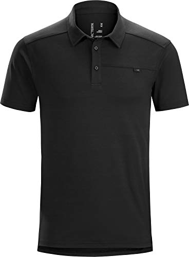 Arc'teryx Captive Polo Shirt SS Men's | Moisture Wicking Top | Black,...