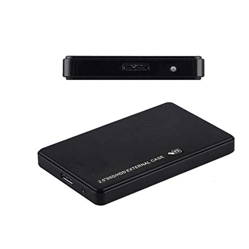 Jonerytime_USB3.0 1TB External Hard Drives Portable Desktop Mobile Hard Disk Case Black