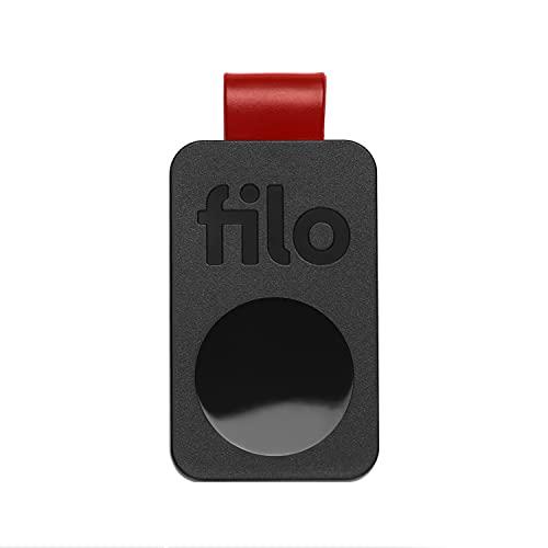 FiloTag Trova Chiavi 2021 | Localizzatore di Oggetti tramite App. Keyfinder e Tracker Bluetooth | Ritrova gli Oggetti che Hai Perso | Misure: 25x41x5mm | Pack da 1, Colore Nero