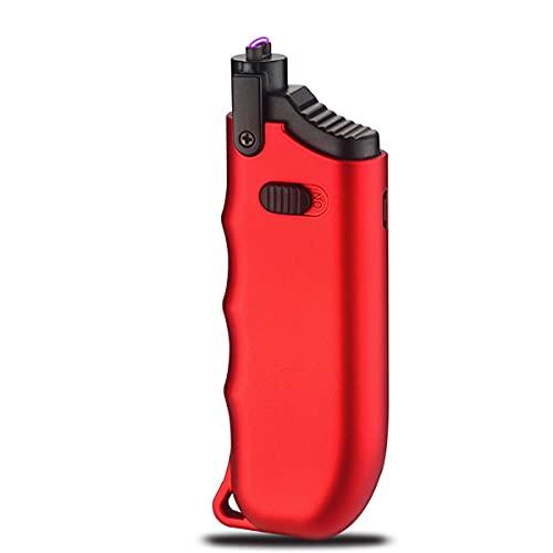 LGQ Encendedor de Velas, Cuello Ajustable y Encendedor eléctrico de Carga USB, Uso para Cocina, Barbacoa, Velas, Camping, Fuegos Artificiales,Rojo