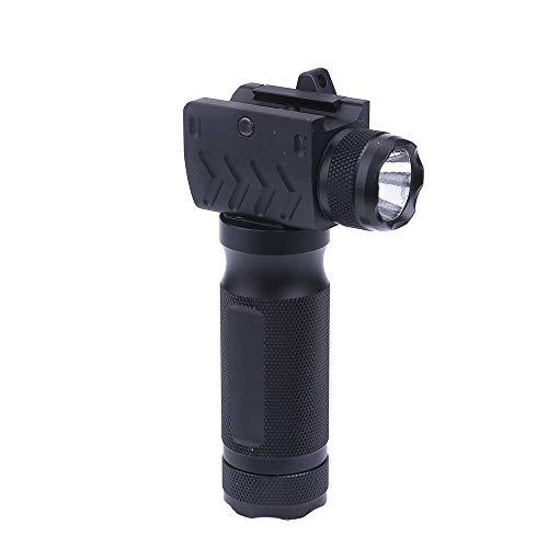 金属製 タクティカル LED ライト付き グリップライト 20mmレイル対応 BK