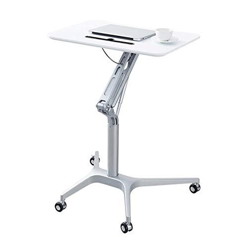FHT Pflegetisch Pflegetisch Laptoptisch Pflegetisch Beistelltisch Betttisch Höhe/Winkel Verstellbar Mit Rollen Bremsen Beistelltisch Notebooktisch (Color : White)