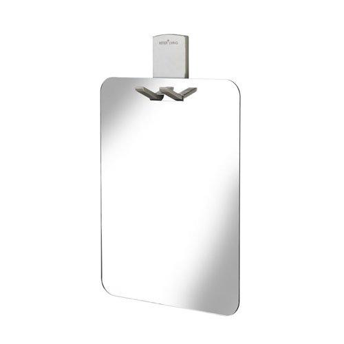 Croydex, Specchio da doccia con supporto per rasoio, Argento (silber), acrilico