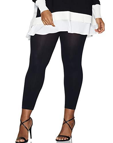 Hanes Silk Reflections Women's Plus Size Curves Blackout Leggings HSP004, Black, 3X/4X