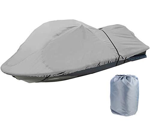 Cubierta para Moto Acuática Funda de Jet Ski 210D Impermeable Adapta a 136' a 145' Moto Acuática, 420 x 300 cm,Gris