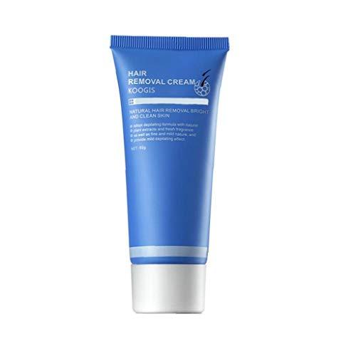 Uayasily Piernas depilatorio del Pelo Crema Crema de eliminación indolora de depilación Facial del Cuerpo del removedor del Pelo del Cuerpo el Cuidado del Cabello para Hombres, Mujeres 60G