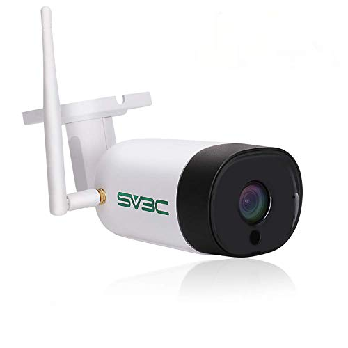 SV3C 3MP HD Überwachungskamera Aussen WLAN IP Kamera Outdoor WiFi IP67 Wasserdicht Wireless mit Zwei-Wege-Audio, Bewegungserkennung, 20M Nachtsicht Kompatibel mit Smartphones,Tablets und Windows PC