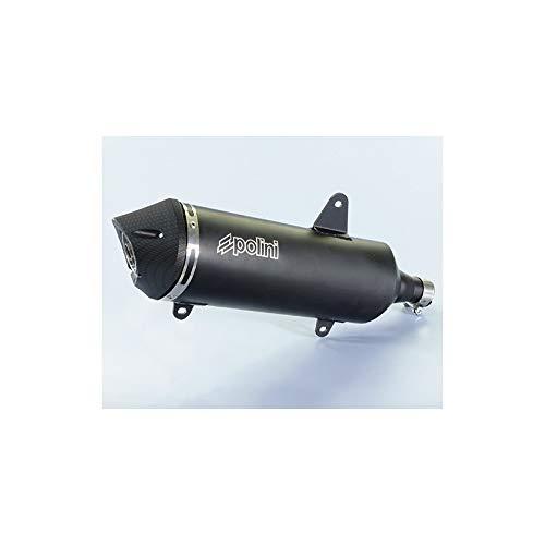 701000330007 - Silenciador Maxi-Scooter Alu Negro/Cubierta Aluminio Metropolis