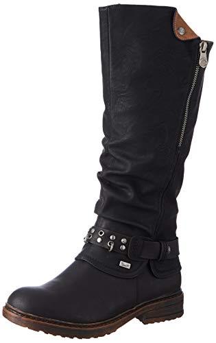 Rieker Damen 94789 Kniehohe Stiefel, schwarz, 38 EU