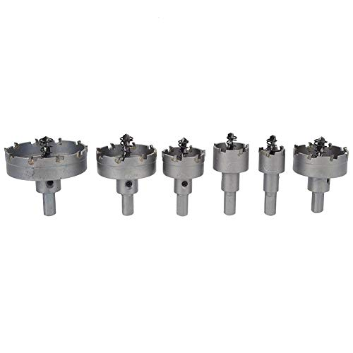 Hole Saw Heavy Duty Cemented Carbide Drill Bit Hand Tool Accessory for Stainless Steel Sheet Metal Cast iron Wood Square Tubes
