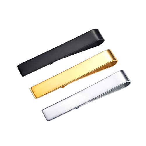 PROSTEEL [3 Unidades] Regalo para Hombres Juego de Pasadores de Corbata - Estilo Clásico de Acero Inoxidable con Caja de Regalo Lujo