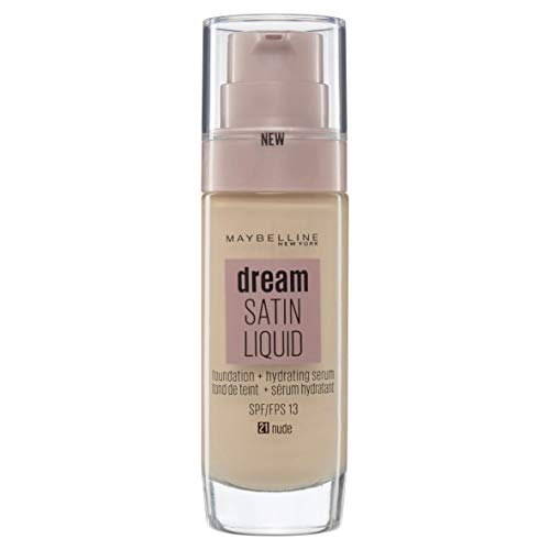 Maybelline New York Dream Satin Liquid, Base de Maquillaje Líquida con Sérum Hidratante, Tono 021 Nude
