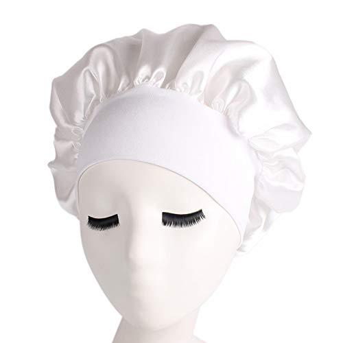 IVYSHION Bonnet de Nuit en Satin Bonnet de Nuit Bonnet de Cheveux Longs Bonnet de Nuit Bonnet de Bonnet Femmes Filles