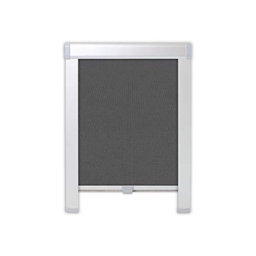 4dekor Dachrollos Für Velux Dachfenster Thermo Dachfensterrollo 100% Verdunklung Sonnenschutz Silbergehäuse (C02, Graphit)