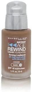 Maybelline Instant Age Rewind Cream Foundation SPF 18 Cocoa (Dark 3)