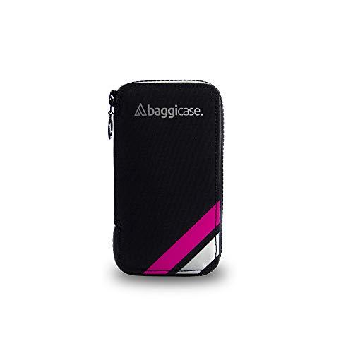 Baggicase XL Rosa (16,3x8,5cm). La Funda Impermeable para el móvil y Las pertenencias del Ciclista. Disponible en Tres Tallas S (14x7,6cm), M (15x7,9cm) y XL (16,3x8,5cm) y 8 Colores.