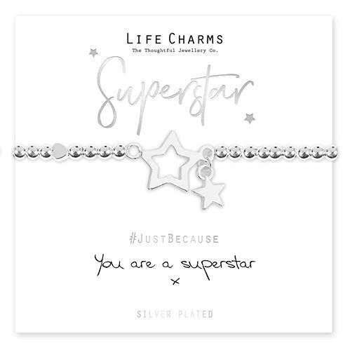 Life Charms Women Jewellery Superstar Bracelet Wristband Ladies Gift Box