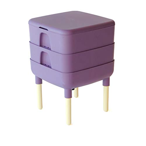 The Essential Living Composter, Worm Composter (Plum)
