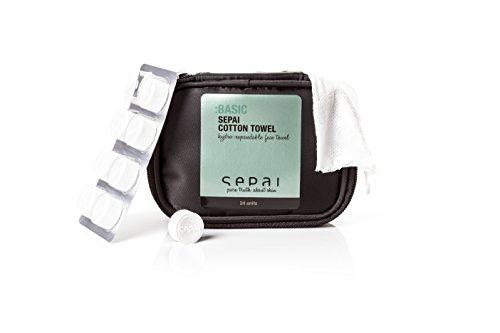 SEPAI Set de 24 Lingettes Hygiéniques en Coton Cotton Towels