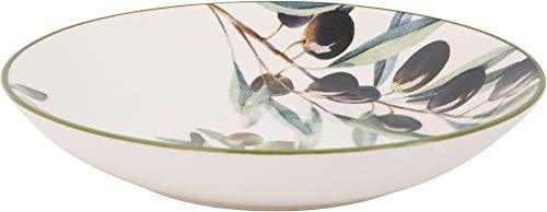 Home Essentials 92941 Olives Design - Cuenco redondo para pasta (30,5 cm)