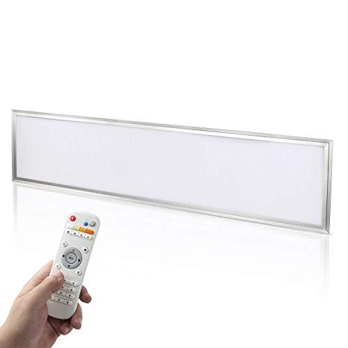 Yorbay LED Panel Set 120x30cm 40W Farbtemperatur einstellbar(3000K-6000K) dimmbar Deckenleuchte Pendelleuchte mit Fernbedienung, Befestigungsmaterial und LED Treiber/Trafo, Mehrweg