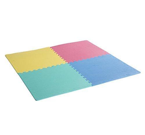 homcom Tappeto Puzzle Bambini Multiuso Ecologico Set di 24 Pezzi in Eva 610 × 610 × 10mm con certificati EN711, EN712, EN7113,6P