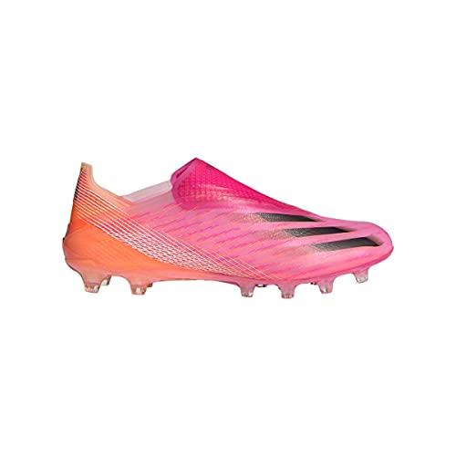 adidas X Ghosted+ AG, Bota de fútbol, Shock Pink-Black-Screaming Orange, Talla 7.5 UK (41 1/3 EU)