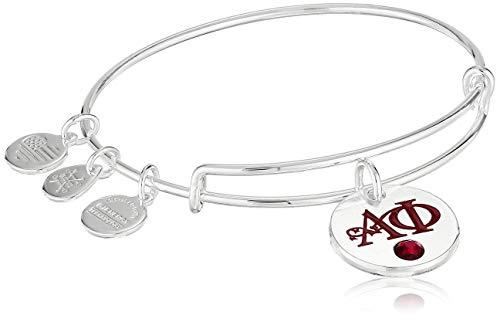 Alex and Ani Women's Color Infusion Alpha Phi II EWB Bracelet, Shiny Silver, Expandable