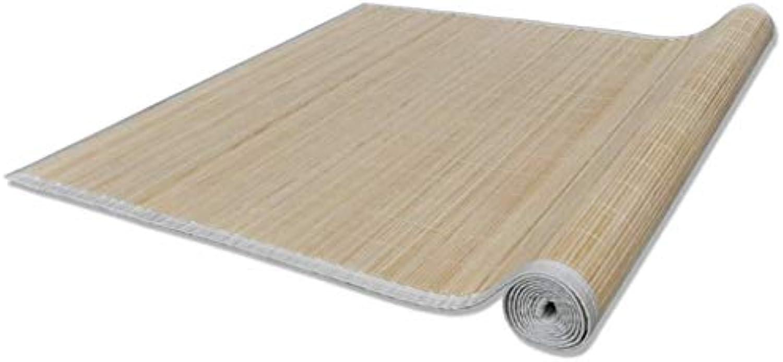VidaXL Bambusteppich Teppich Matte Lufer Küchenteppich Bambusmatte Vorleger