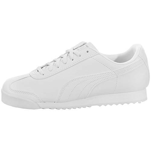 PUMA Kids' Roma Basic Sneaker, White/Light Gray, 2.5 M US Little Kid