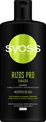 Syoss - Champú Rizos Pro, 440 ml, Para cabello rizado, Rizos definidos, disciplinados e hidratados, Cabello como recién salido de la peluquería