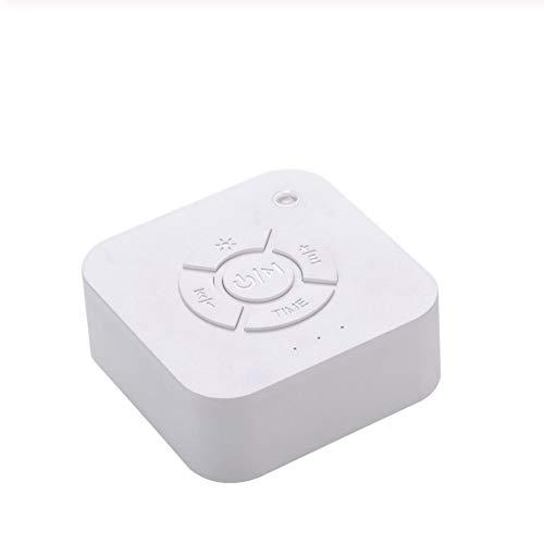 Mini chupete de sonido de máquina de sonido de ruido blanco con 9 sonidos relajantes, temporizador de luz de respiración, carga USB, adecuado para el hogar del bebé