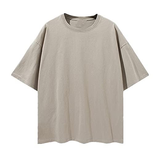 N\P Camiseta de manga corta con hombros caídos para hombre