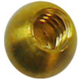 "25-1/4"" threaded 6-32 brass balls drilled tapped lamp finials"