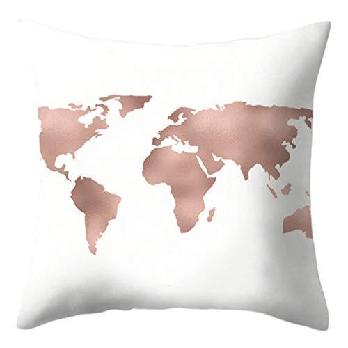 Funda de cojín cuadrada de estilo étnico, color rosa, funda de cojín para sofá, cama, sofá, decoración del hogar, funda de almohada decorativa de 45,7 x 45,7 cm, 36 #