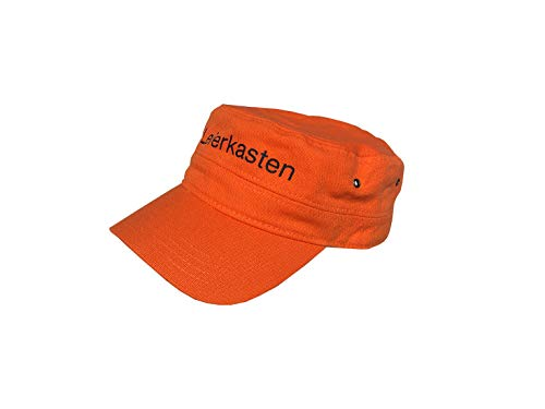 Original Sepp Bumsinger`s Leierkasten Cap in orange, verstellbare Größe