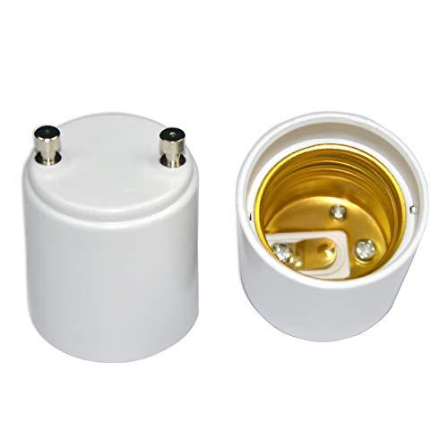 MIFASOO GU24 to E26 E27 Adapter Fire Resistant Converter 2 Pin Light Socket (2 pack)