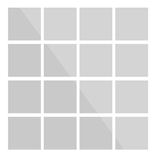 Azulejos De Pared Autoadhesivos Pegatina De Pared De Espejo Reflectante Flexible Con Hojas De Espejo Decoración De Oficina, Papel Tapiz (Size:150x150mm; Color:#1)