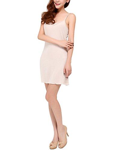 HOEREV Women's pure Natural gelso seta indumenti da notte full Slip chemise