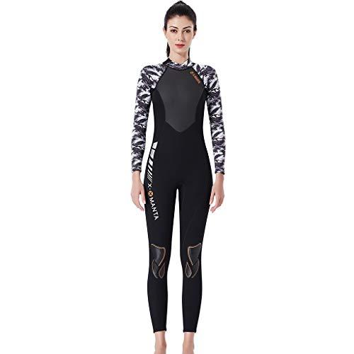 LOPILY Neoprenanzug Badeanzüge Damen Herren Schnelltrocknend Sonnenschutz Wassersport Anzug Wakeboarding Surfbekleidung Taucheranzug Anti-UV Badebekleidung(Schwarz,XL)