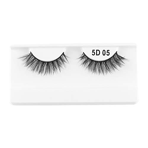 1 paire de cils de vison 3D entrecroisés brins dramatiques à haut volume faux cils yeux outils de maquillage(05)