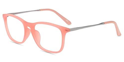 Firmoo Occhiali Luce Blu Bambini Occhiali per Computer/PC/Gaming, Occhiali da Vista Rettangolari Anti-affaticamento Degli Occhi Ragazzi Ragazze(Rosa)