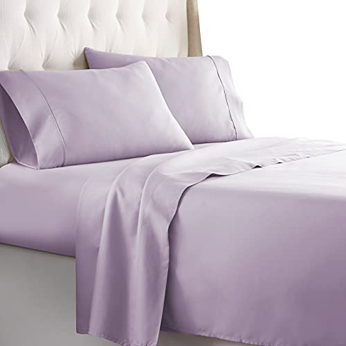 HC Collection Queen Bed Sheets Set - Bedding Sheets & Pillowcases w/ 16 inch Deep Pockets - Fade Resistant & Machine Washable - 4-Piece 1800 Series Queen Size Sheet Sets – Lavender