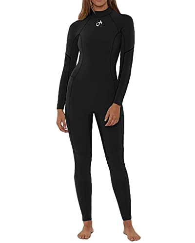 Womens Wetsuit Full Body Surfing Diving Snorkeling Swimming Back Zip Wet Suit Long Sleeve One Piece Swimsuits